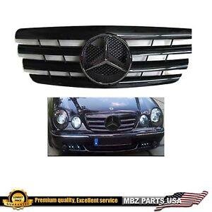 2000 2001 2002 E-CLASS ALL BLACK STAR FRONT GRILLE AMG REPLACEMENT E320 E500 E55