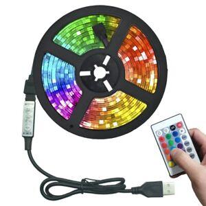 5M RGB LED Strip Light 5V Flexible Lamp 2835 USB IR Remote TV Backlight Lights