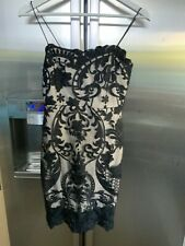 Quiz Black Nude Lace Dress Uk8