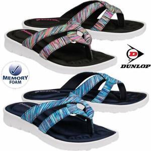 Ladies Memory Foam Walking Fit Flip Flops Fitness Toning Toe Post Sandals Shoes