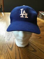 Los Angeles LA Dodgers Cap Hat T.E.I. Blue White Strapback Logo MLB A-1