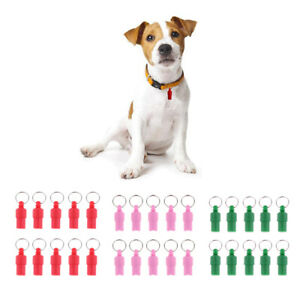Set of 10 Anti-Lost Pet Dog Cat ID Stainless Steel Tag Name Address Tube