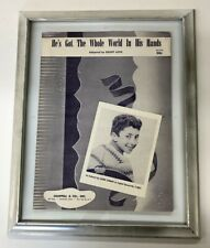 1957 He's Got The Whole World In His Hands  Laurie London Sheet Music