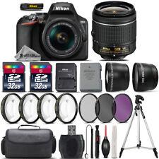 Nikon D3500 DSLR Camera with 18-55mm VR Lens + 4PC Macro Kit + UV-CPL-FLD + 64GB
