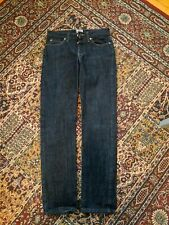 Naked and Famous Button Fly Dark Wash Denim Jeans Size 28 Straight Leg