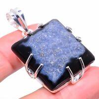 """Botswana Druzy Gemstone Handmade Ethnic Gift Jewelry Pendant 2.01"""" VS-2798"""