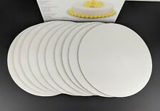 """Wilton 10"""" Inch Cake Circles 10 Count Pack (NOT 12) White Corrugated Cardboard"""