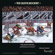 MARTINI ART PRINT We Olive Hockey Michael Godard