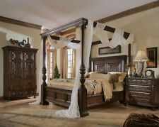 Super-king size Four Poster Bed. Absolutely Stunning Arabian Bed-Antique Brown