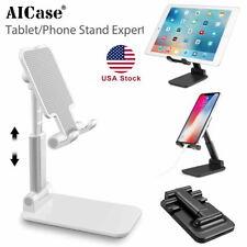 "Cell Phone Stand Tablet Holder Fully Foldable Desktop Phone Cradle Dock 4-12.9"""