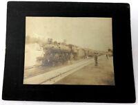 Early c1900 B&M Railroad photo Locomotive 1154 original large cabinet card