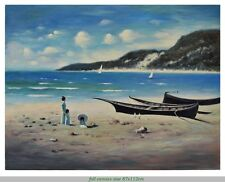 DAY at the BEACH Original painting – Large 87x112cm