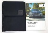 GENUINE BMW 1 SERIES F20 / F21 HANDBOOK OWNERS MANUAL WALLET 2015-2019 PACK