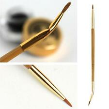Double-ended Bamboo Eye Liner Brush Lip Makeup Brush Tool Bent Straight Angled