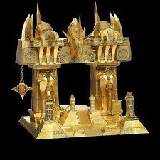 3D Metal Puzzle DIY Model Dark Portal Black Gate Gold Yellow P158 G