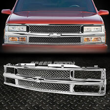FRONT BUMPER CHROME ABS MESHED GRILLE GUARD FOR 94-00 CHEVY C10 C/K/TAHOE/BLAZER