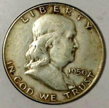 1950-D 50C Franklin Half Dollar 19wcr0328 90% Silver 50 Cents Shipping