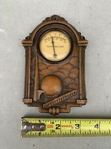 Rare Vintage Worlds fair Syroco wood thermometer