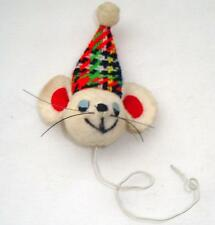 Adorable Vintage Felt Mouse Head Ornament, Japan, Twist to Christmas Tree Branch