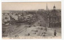 La Quais de la Bourse Bourdeaux France 1910s postcard