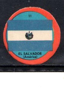 EARLY EL SALVADOR  FLAG CIGARETTE CARD, SCARCE CIRCULAR FLAG CARD