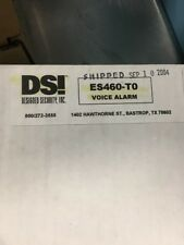 Designed Security Inc. Dsi Es460-T0 Voice Synthesized Alarm *New*