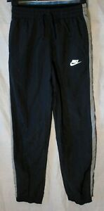 Boys Nike Black Grey Tracksuit Training Bottoms Over Trousers Age 13-14 Years