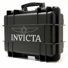Invicta Box Men's Eight 8 Slot  Black Box,Diver Box Collecter Case Watch,New