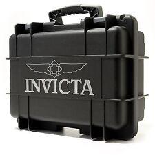 Invicta Box Men's Eight 8 Slot  Black Box,Diver Box Collecter Case Watch,New