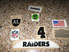 Oakland Raiders  20 mil 3M vinyl full size football helmet decals