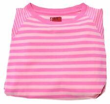 LEVI'S Girls T-Shirt Top 9-10 Years Medium Pink Striped Cotton  LM03