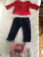 NIP My American Girl Doll Fashion Show Starry Outfit - long sleeve, Boots Jeans