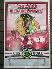Chicago Blackhawks One Goal Poster STANLEY CUP Champions Towes Kane 36 x 24 in