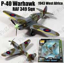 WWII P-40 B Warhawk RAF 349 Sqn 1943 West Africa 1/72 finished plane Easy model