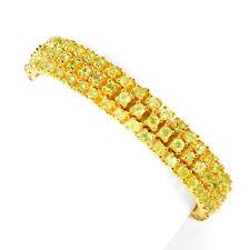 Armband, 925 Sterling Silber, Gelbgold beschichtet, NATURAL 3,0 mm. Grün Peridot