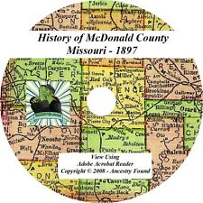 1897 History & Genealogy of McDONALD County Missouri MO
