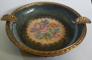 Beautiful Antique PetitPoint Dressing table Ashtray