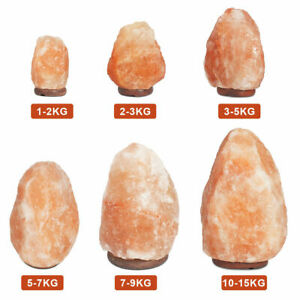 Small-Large Pink Crystal Rock Himalayan Salt Lamp Natural Ionizing Bulb + Plug