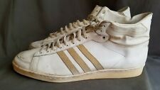 Vintage ADIDAS ABDUL JABAR Hi Top 70s Basketball Sneakers Sz-14 Made in France