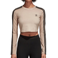Adidas Originals Athletic Women's Crop Top Dust Pearl/Black du8488