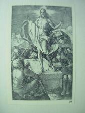 ALBRECHT DURER VINTAGE Rame incisione RESURREZIONE-PASSIONE N. 15