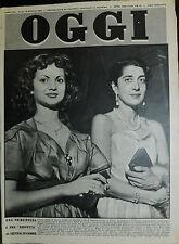 OGGI N°20 /15/ MAG/1952  * MARIA DI SAVOIA e L'ATTRICE MARIA PIA CASILIO *