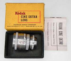 Kodak 25mm f1.4 Ektar S mount  # EI1121 ............. Minty w/Box