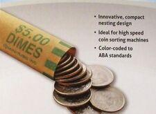 1000 Dime Preformed Shotgun Wrappers Roll Coin Storage MMF Bank Tube Rolls Dimes