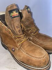 Men preowned Thorogood steel toe boot size 11.5