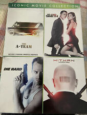 The A-Team, Mr. & Mrs. Smith, Die Hard, Hitman (Dvd) Iconic Movie Collection New