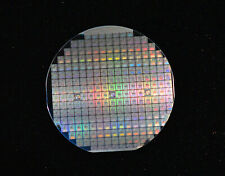 "Vintage 4"" silicon wafer with Microprocessors - From 1980s and Case is Included"