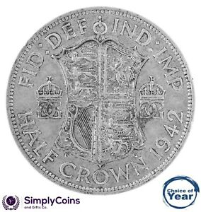 1937 TO 1951 GEORGE VI SILVER HALF CROWNS CHOICE OF YEAR / DATE