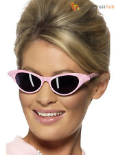 Adults Pink Ladies Sunglasses Grease Lady Frenchy Rizzo Sandy Womens Fancy Dress