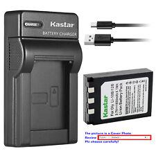 Kastar Battery Slim Charger for Olympus Li-10B Li-12B Li-10C Stylus 400 Digital